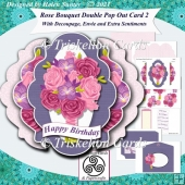Rose Bouquet Double Pop Out Card and Envelope 2