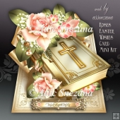 Roses Easter Wishes Card Mini Kit