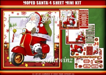 Moped Santa 4 Sheet Mini Kit