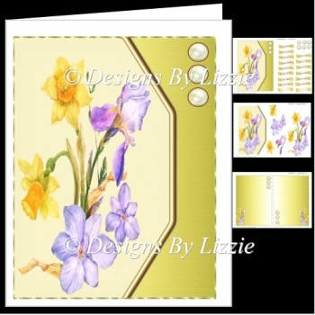 Spring Flowers Daffodils and Iris Mini Kit
