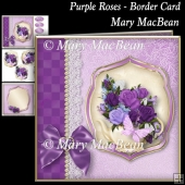 Purple Roses - Border Card