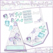 Butterfly Dreams Pyramid Card