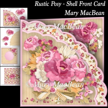 Rustic Posy - Shell Front Card
