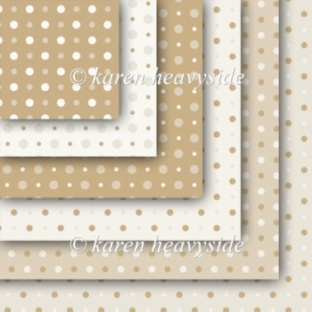Coffee And Cream Multi Spot Papers
