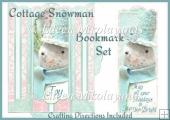 Cottage Chic Snowman Bookmark Set