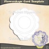 Template Flowershape Card
