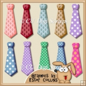 Assorted Ties Clipart Collection