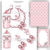 Baby Essentials Decoupage Sheet (Pink)
