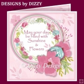 Radiant Floral Wreath Card