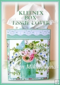 Bouquets of Wishes Kleenex Tissue Box Cover with Directions