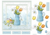 Jug of spring flowers
