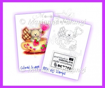 Chocolate Bear Digital Stamp