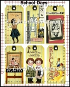 Vintage School Days Tag Set
