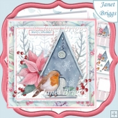 ROBIN AT HOME CHRISTMAS 7.5 Decoupage & Insert Kit