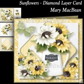 Sunflowers - Diamond Layer Card