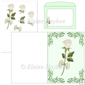 White Rosebud Card