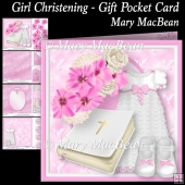 Girl Christening Gift Pocket Card