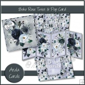Boho Rose Twist & Pop Card