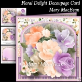 Floral Delight Decoupage Card
