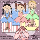 Little Ballerina Clipart Collection