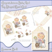 Congratulations Baby Girl Tag Shaped Easel Card