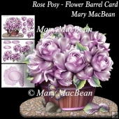 Rose Posy - Flower Barrel Card