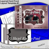 Layered Card Front Layout Template #1