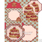 Strawberry Delight 'Have a Sweet Birthday' Scalloped Card Set