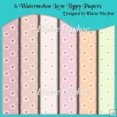 6 Watermelon Love Lippy A4 Backing Papers
