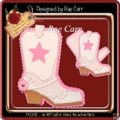 774 Cowgirl Boot Shaped Card *Multiple MACHINE Formats*