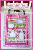 Country Raspberry Memo Board and Bonus Tags Kit with Directions