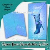 Xmas Boot Moneyholder and Envelope