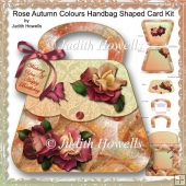 Rose Autumn Colours Handbag Shaped Card Kit