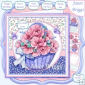 POPPY BASKET 7.5 Decoupage & Insert Mini Kit Various Occasions