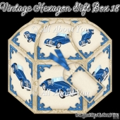 Vintage Car Hexagon Gift Box 18