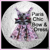 Paris Chic Paper Dress and Bow Embellishment Set