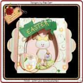 429 Easter Bunny Window Card *HAND and MACHINE Formats*