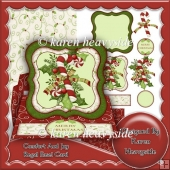 Comfort And Joy Regal Shaped Easel Card