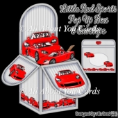 Little Red Sports Car Pop Up Box Card
