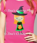 Halloween Cute Witch for cutting from card/paper or vinyl