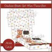 Studious Teddies Girls Mini Pizza Box
