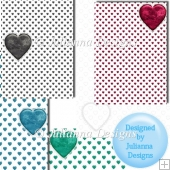 5 Heart Backgrounds