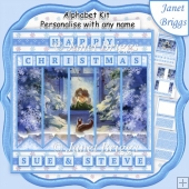 IT'S COLD OUT HERE Christmas 7.5 Quick Card Kit Create Any Name