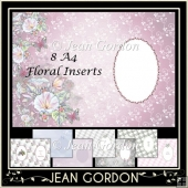 8 A4 Floral Inserts