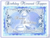 Happy Birthday Mirrored Topper with Decoupage