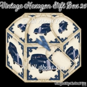 Vintage Car Hexagon Gift Box 26