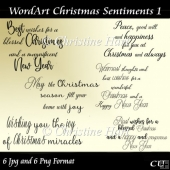 Wordart Christmas Sentiments 1