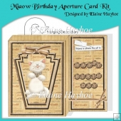 Miaow Birthday Aperture Card Kit