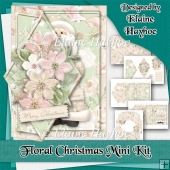 Floral Christmas Diamond Fold-Back Card Kit