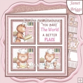 YOU BAKE THE WORLD SQUARES 7.5 Quick Layer Card & Insert Kit